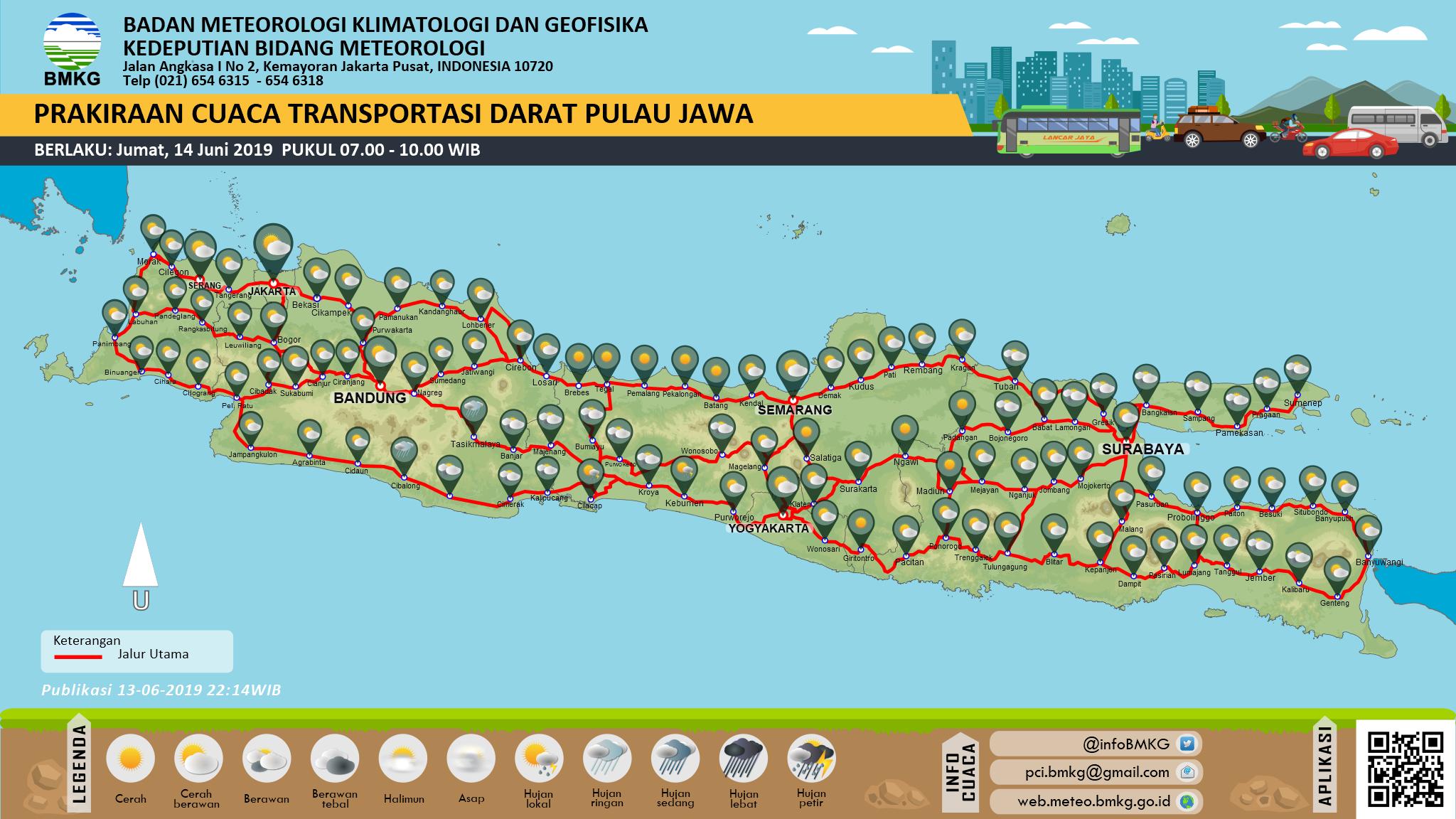 Prakiraan cuaca posko lebaran Pulau Jawa